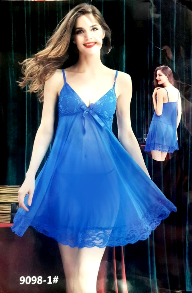 c22e4ff0589 Blue Female New Design Sexy Short Dress Nighty Breathable Sleeveless ...